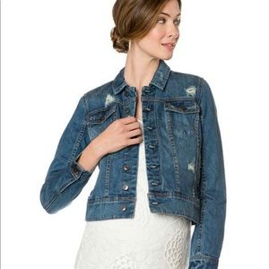 A Pea in the Pod Distressed Jean Jacket Year Round